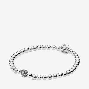 ❤Pandora Beads & Pave Bracelet